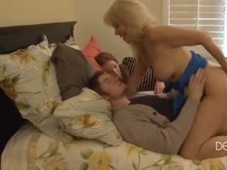 Mature mother secretly fucks her son-in-law
