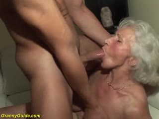 Young boy fucking granny