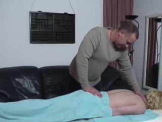 Ilena receives a relaxing massage from Bob