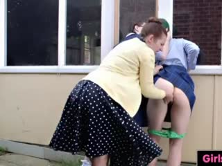 Spanking from the school principal