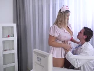 Doctor fucks nurse with huge natural breasts