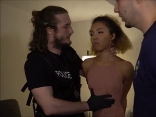 Fine exotic pussy fucks big police cock