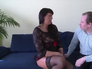 Brown haired mature is ass fucked hard