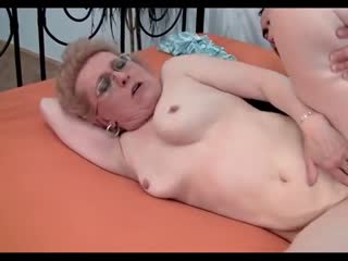 old grandma in mouth and ass
