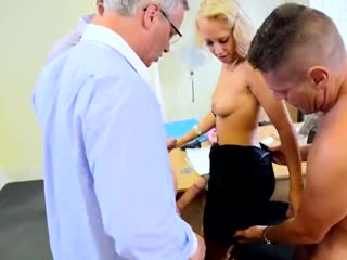 Blonde secretary stuffed with big dicks in the lunch break